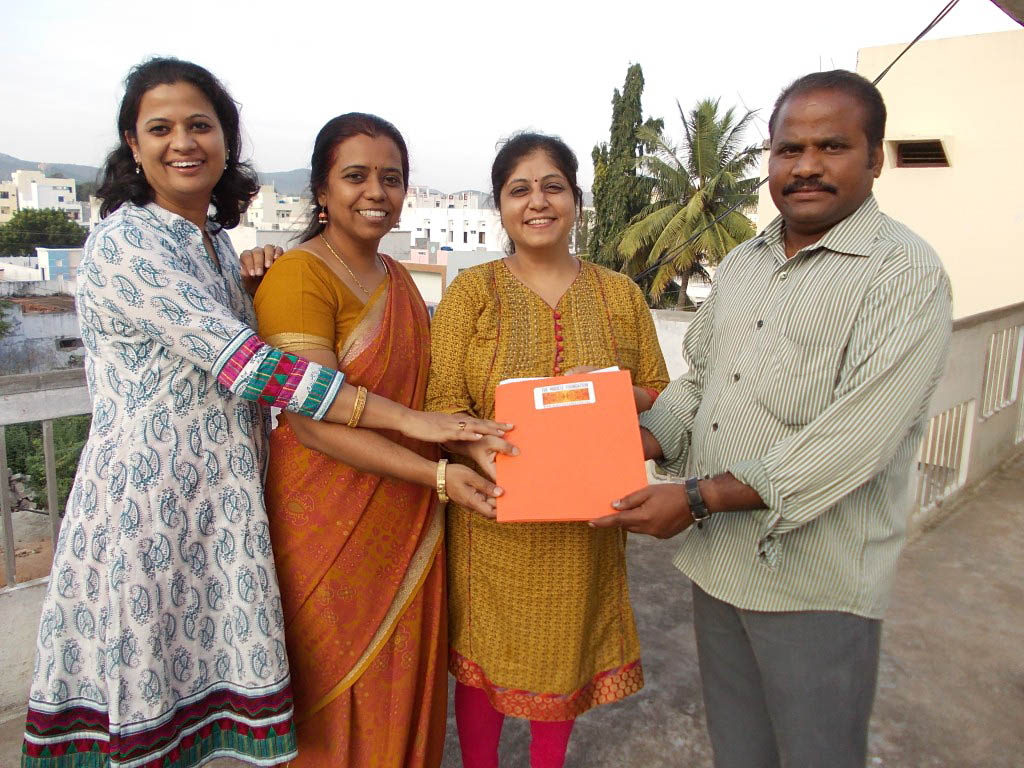 The Miracle Team and Mr. Vinay, Founder of New Life Children's Home